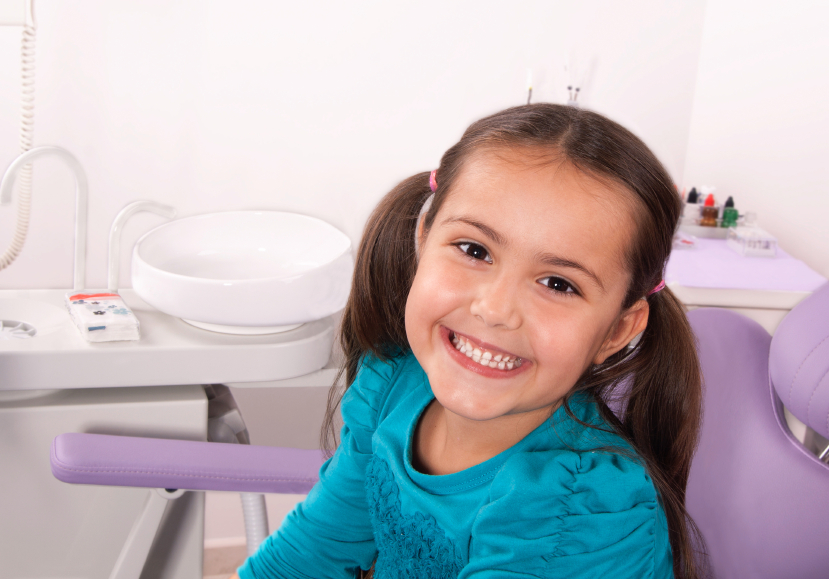 young person in dental office