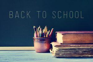 Chalkboard saying Back To School